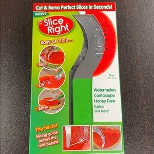 ez Slice Right watermelon Cake Slicer Server